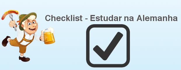 Checklist - Estudar na Alemanha