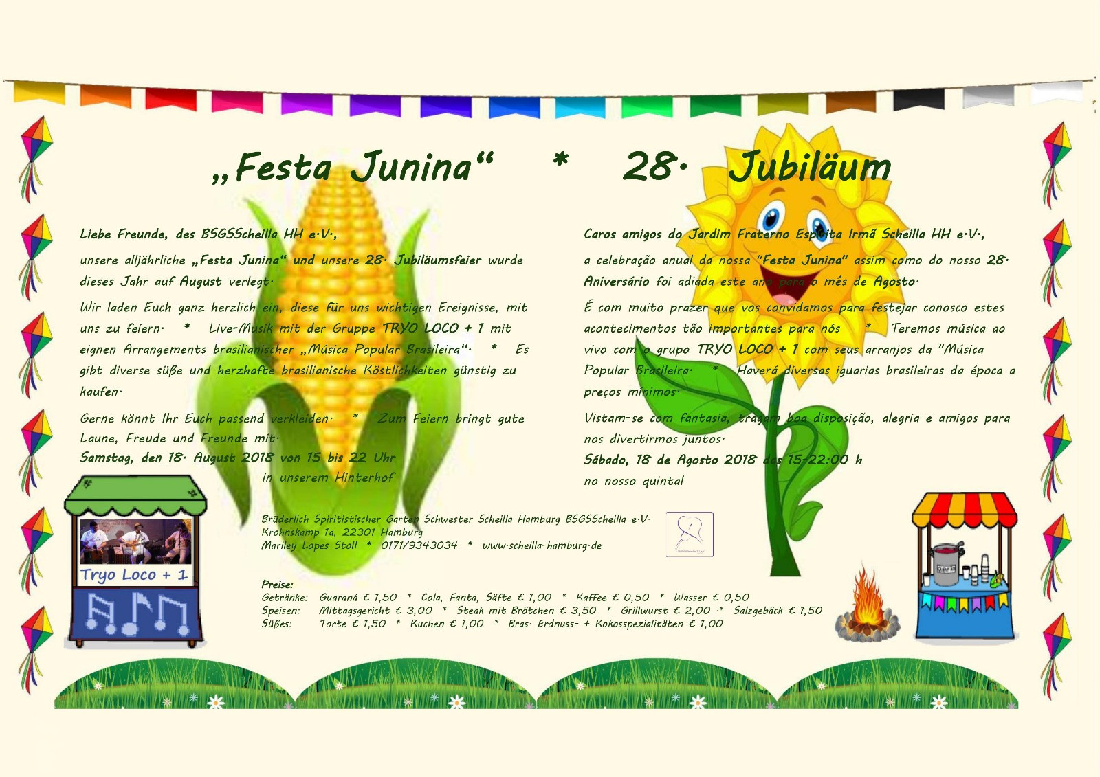 Festa Junina do Jardim Fraterno Espírita Irmã Scheilla