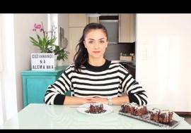 Cozinhando na Alemanha | Bolo Brownie 2 Chocolates