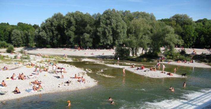 Ilha no rio Isar